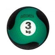 Medicine Ball Sem Alça Borracha Antiderrapante 3kg Oneal
