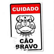Placa Decorativa Cão Bravo 24x16