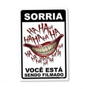 Placa Decorativa Sorria HaHaHa 24x16