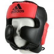 Protetor De Cabeça Sparring Preto c/ Vermelho Shock- Adidas