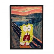 Quadro Decorativo Bob Esponja Scream By Baal's