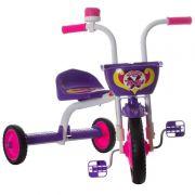 Triciclo Top Boy Jr Aço Carbono Acento Reajustável Branco/ Roxo Ultra Bikes