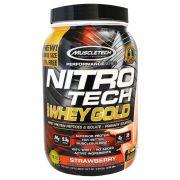 Whey 100% Whey Gold Nitro Tech 1.13Kg Morango Muscletech