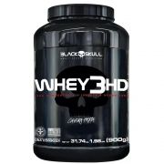 Whey Protein 3hd Baunilha Caveira Preta 1,98Lb 900g 32g Proteina Black Skull