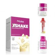 X-Shake 420g + Hair,Skin & Nails + L-Carnitine 1400 (480ml) + Collagen Diet 50g - Atlhetica Nutrition