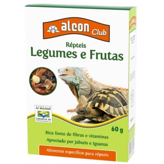 Alimento Club Répteis Legumes e Frutas para Jabutis e Iguanas - 60g - Alcon