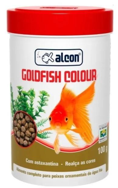 Alimento Goldfish Colour para Peixes Ornamentais - 100g - Alcon