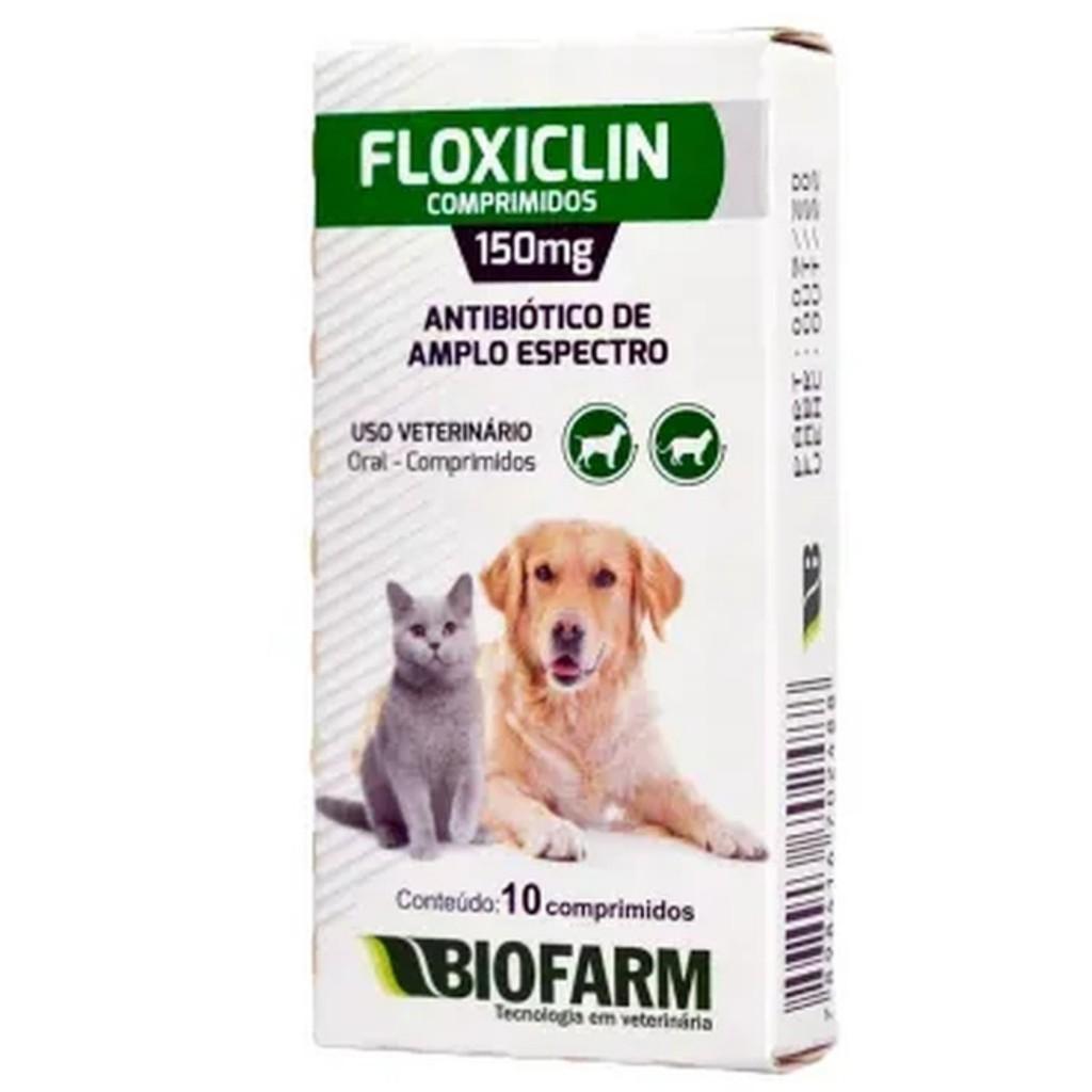 Antibiótico Floxiclin para Cães e Gatos - 10 comprimidos - 150g - Biofarm