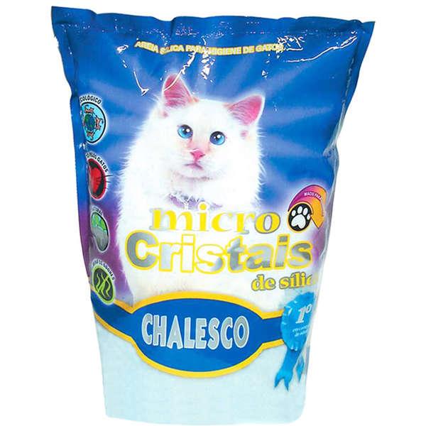 Areia Sanitária Micro Cristais de Sílica para Gatos - 1,8KG - Chalesco