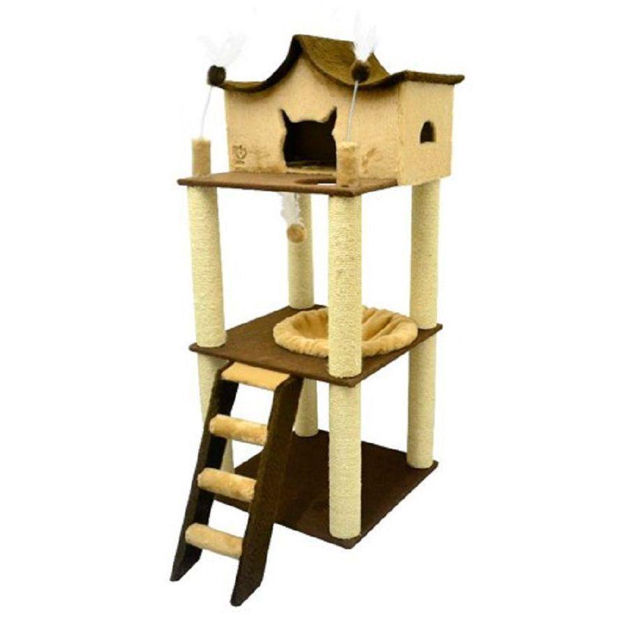 Arranhador para Gatos Fortaleza com 3 Bases - São Pet