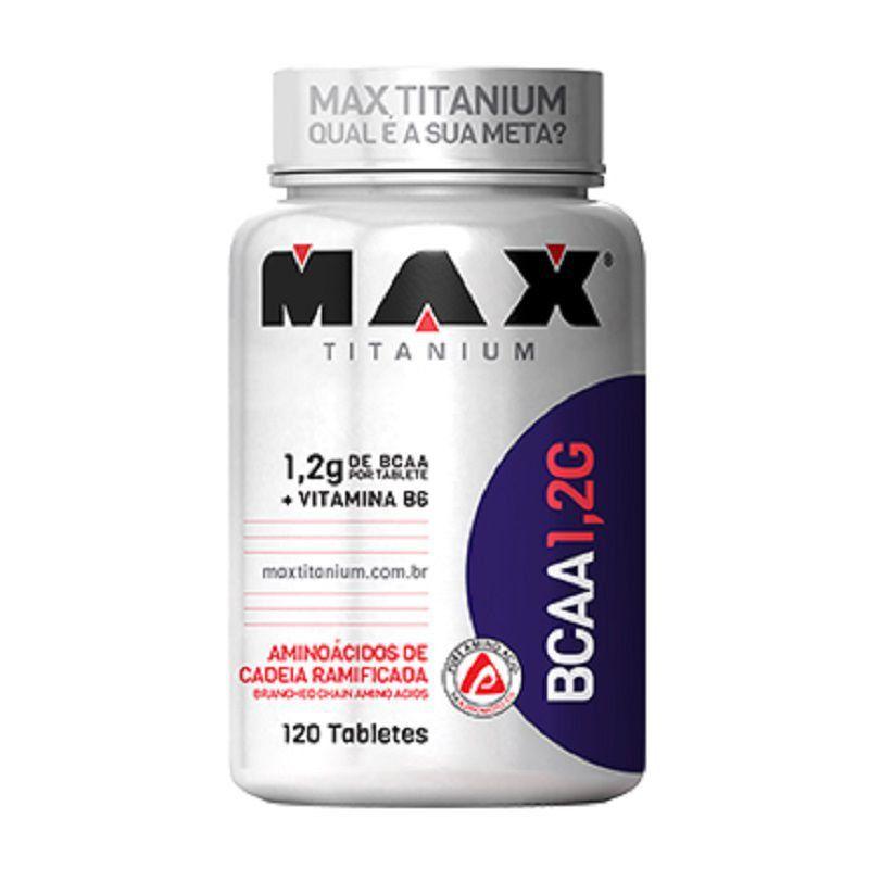 Bcaa 1,2g Pote com 120 Tabletes - Max Titanium