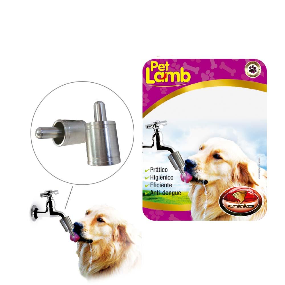 Bebedouro Automático de Alumínio - Lambe-Lambe - Furacão Pet