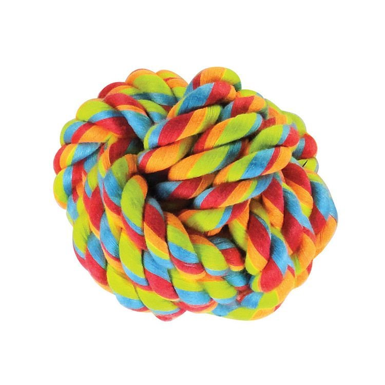 Bola de Corda Colorida para Cães - Médio- Jambo Pet