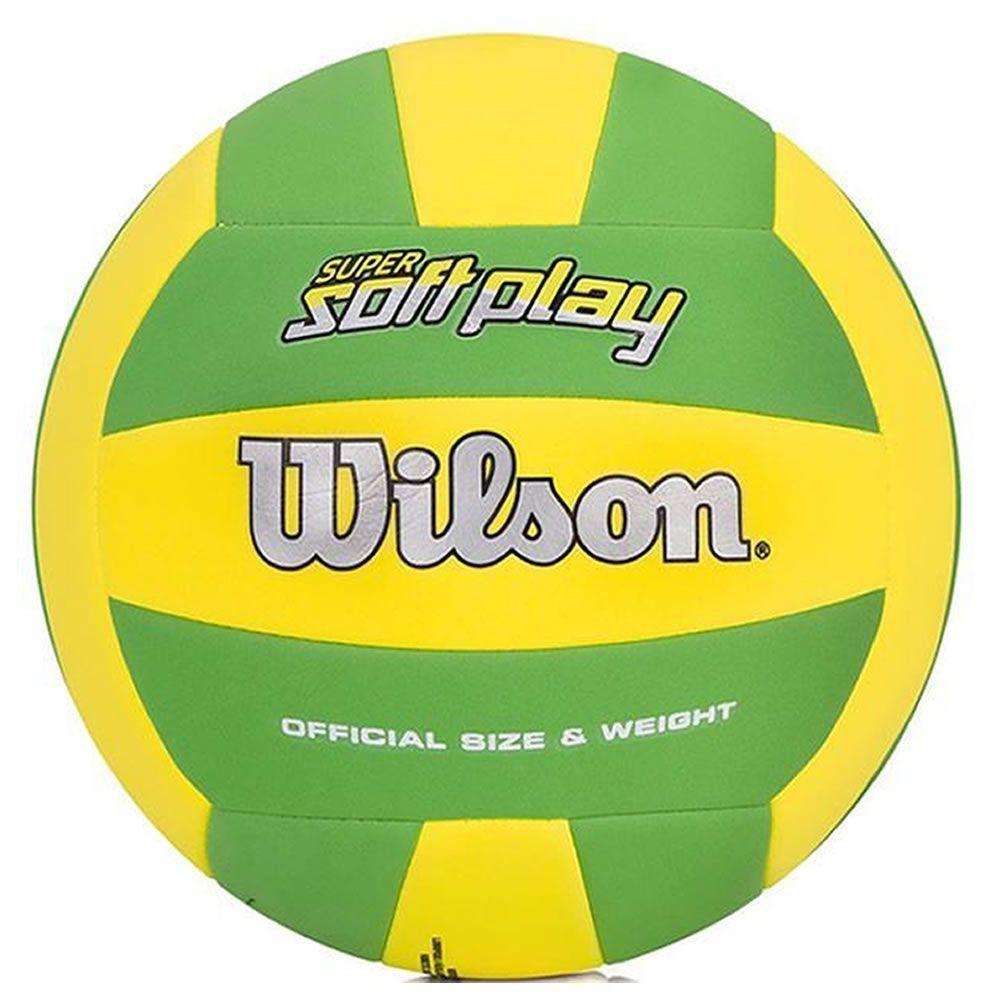 Bola de Vôlei Super Soft Play Verde C/ Amarelo