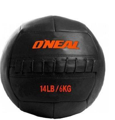 Bola Wall Ball Couro Legitimo 6Kg Treinamento Funcional  Crossfit Oneal