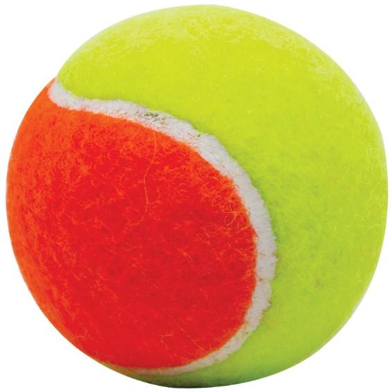 Brinquedo Bola de Tênis de Borracha Bicolor para Cães - 6,8 cm -LCM