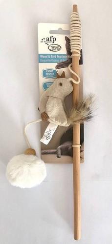 Brinquedo Classic Comfort Wood & Bird Feather Wand para Gatos - AFP