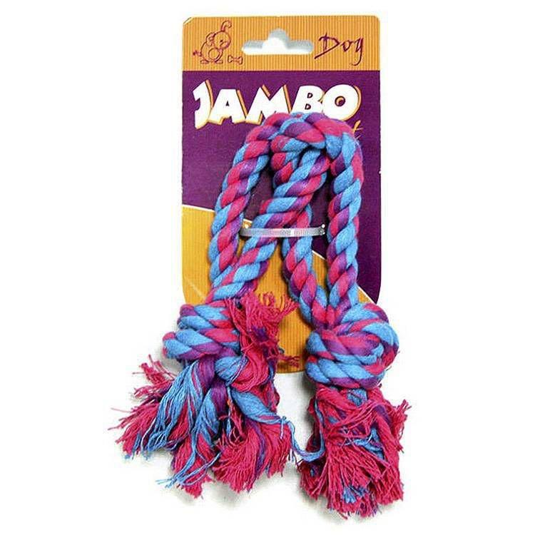 Brinquedo Corda com 2 Argolas para Cães - Jambo Pet