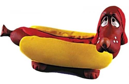 Brinquedo Hot Dog em Látex Atóxico para Cães e Gatos - Latoy