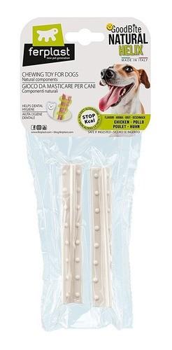 Brinquedo Mastigável GoodBite Natural em Helix para Cães - Sabor Frango - M - 2 Unidades - Ferplast