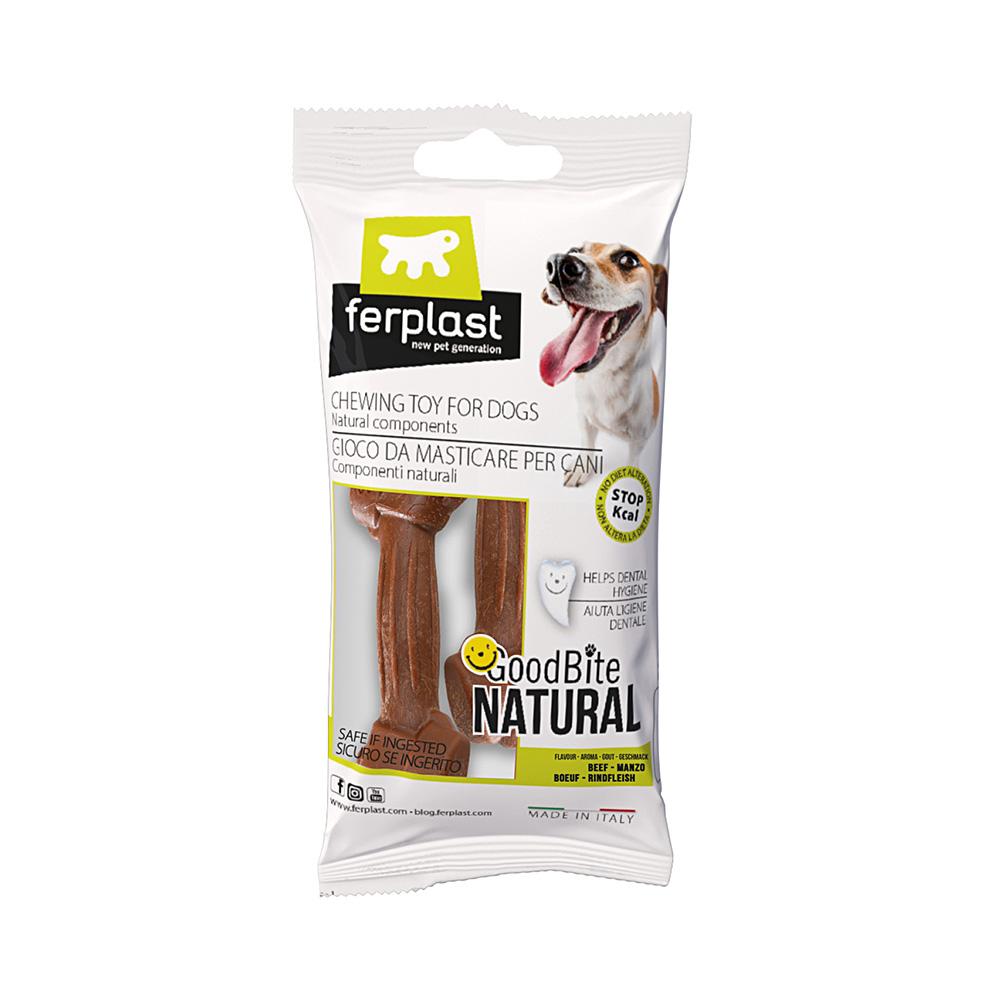 Brinquedo Mastigável GoodBite Natural Ossinho para Cães - Sabor Carne - PP - 2 Unidades - Ferplast