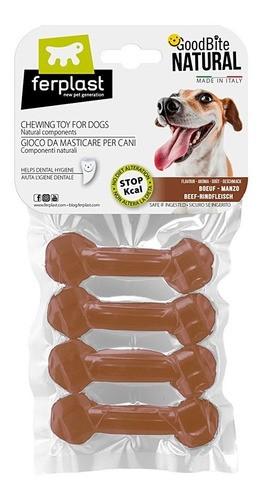Brinquedo Mastigável GoodBite Natural Ossinho para Cães - Sabor Carne - PP - 4 Unidades - Ferplast