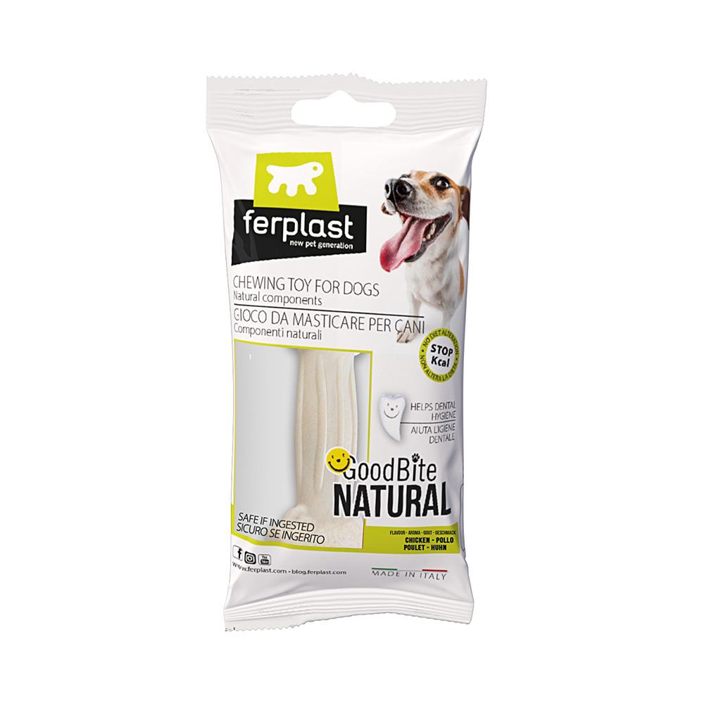 Brinquedo Mastigável GoodBite Natural Ossinho para Cães - Sabor Frango - P - 1 Unidade - Ferplast