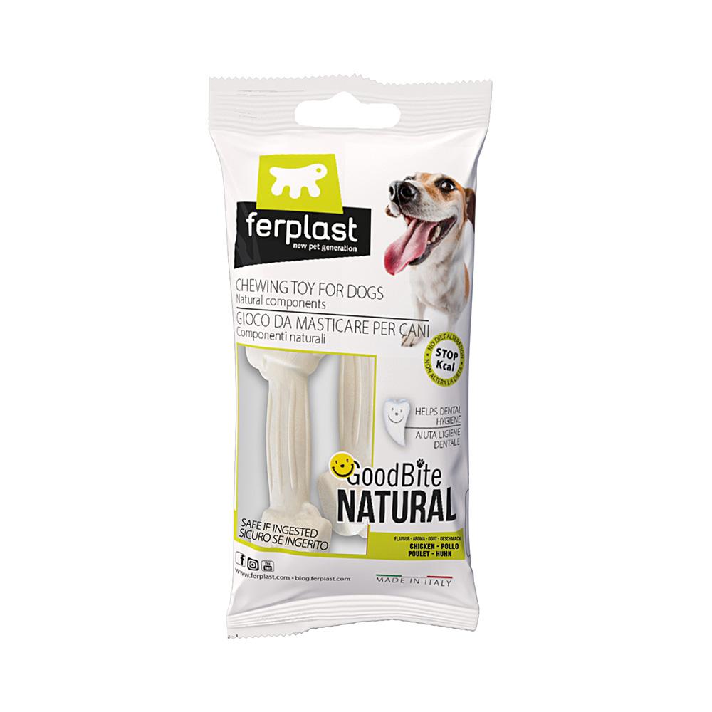 Brinquedo Mastigável GoodBite Natural Ossinho para Cães - Sabor Frango - PP - 2 Unidades - Ferplast