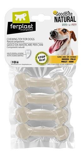Brinquedo Mastigável GoodBite Natural Ossinho para Cães - Sabor Frango - PP - 4 Unidades - Ferplast