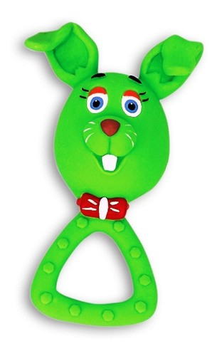 Brinquedo Mordedor Coelhinho em Látex Atóxico para Cães e Gatos - Latoy