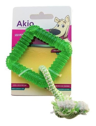 Brinquedo Mordedor Quadrado com Corda para Cães - Akio