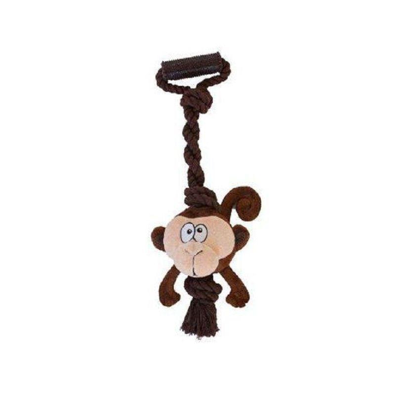 Brinquedo Tuggerz Macaco de Pelúcia com Corda para Cães - Outward Hound