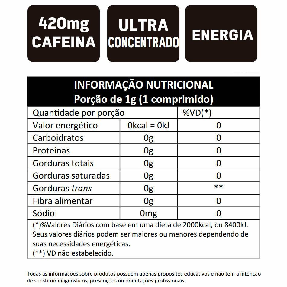 Caffeine X-Fire 420 Bodyaction Cafeina 420mg 20 Comprimidos