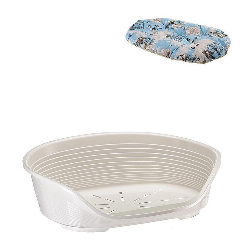 Cama Plástica Siesta Delux 8 Branco - Ferplast