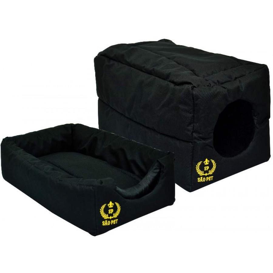 Cama Túnel Estofada em Nylon 600 para Cães e Gatos - GG - São Pet