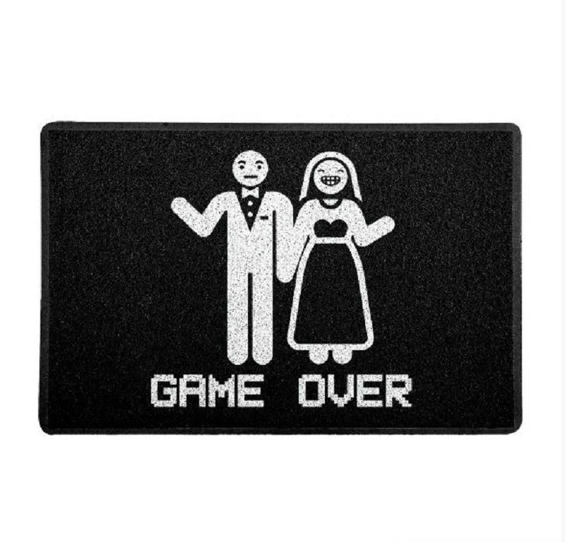 Capacho Game Over Casamento 60x40cm