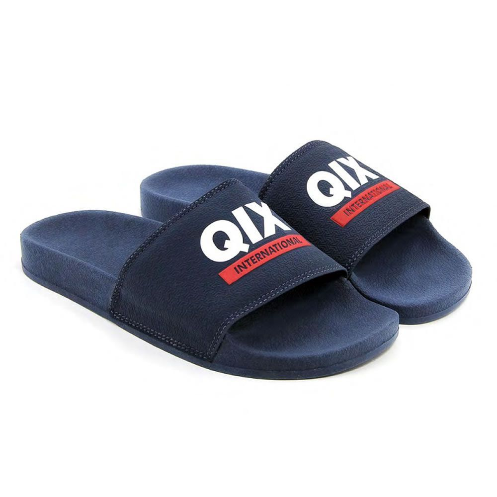 Chinelo Slide Logo International Azul/Branco 100% Autêntico QIX