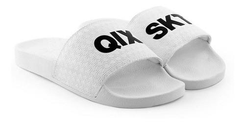 Chinelo Slide Texturizado 100% Autêntico - SKT Branco - QIX