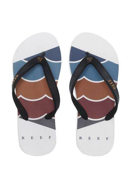Chinelo Switchfoot Foundation White Tira Ultra Resistente Reef