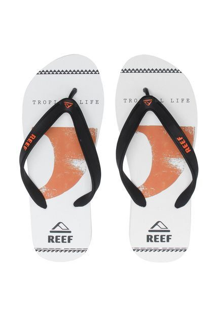 Chinelo Switchfoot Kell White Tira Ultra Resistente Reef