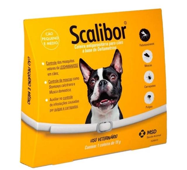 Coleira Antiparasitária Scalibor® para Cães - P/M - MSD