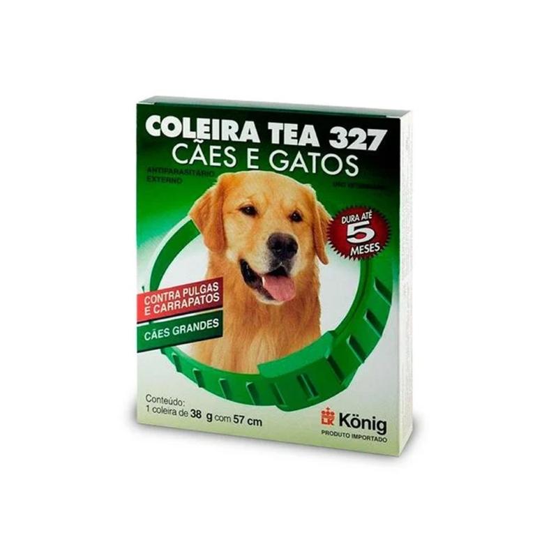 Coleira Antipulgas e Carrapatos Tea 327 para Cães - Grande - Konig