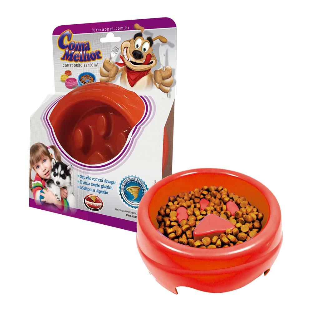 Comedouro Plástico Coma Melhor para Cães - Furacão Pet