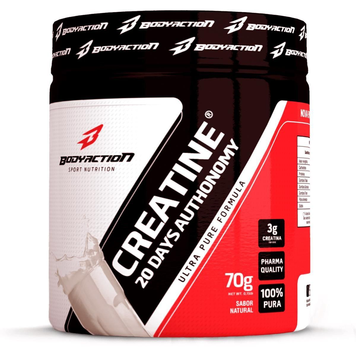 Creatina Powder 20 days Authonomy 100% Pura 3g Creatina/Dose 70g Bodyaction