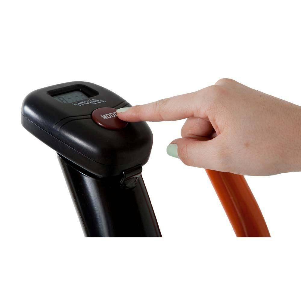 Elíptico Magnético Monitor 5 Funções Pedaleiras em PP Apoio de Mãos Polimet
