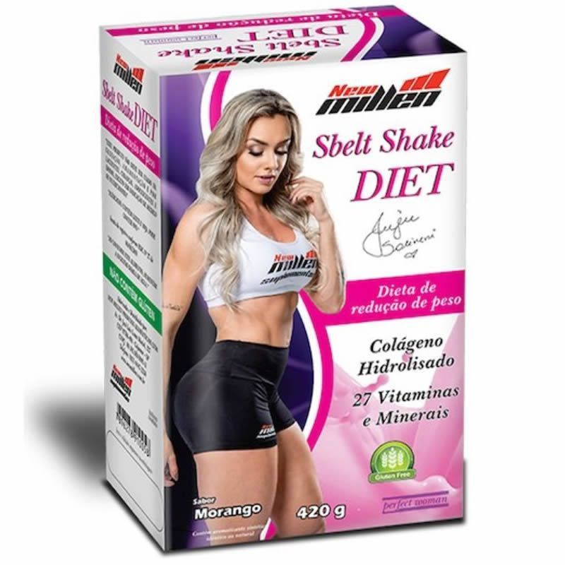 Emagrecedor Sbelt Shake Diet 420g 27 Vitaminas e Mineirais New Millen