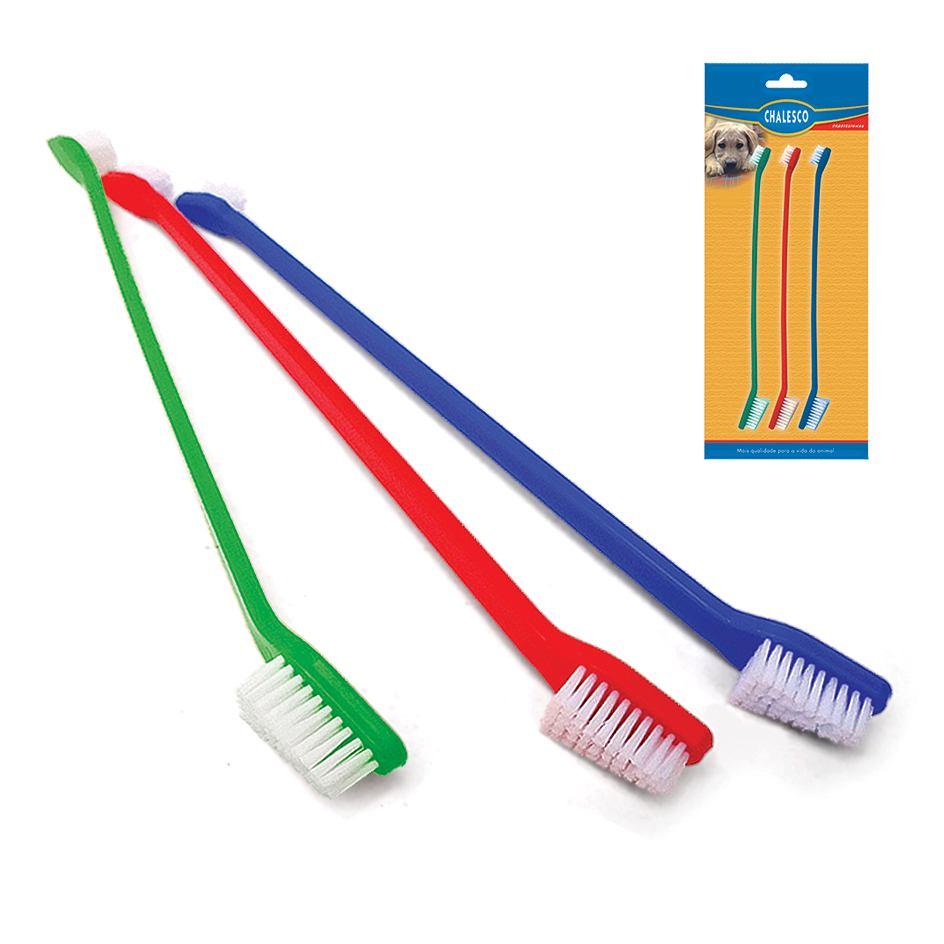 Escova de Dente para Cães - 3 Unidades - Chalesco