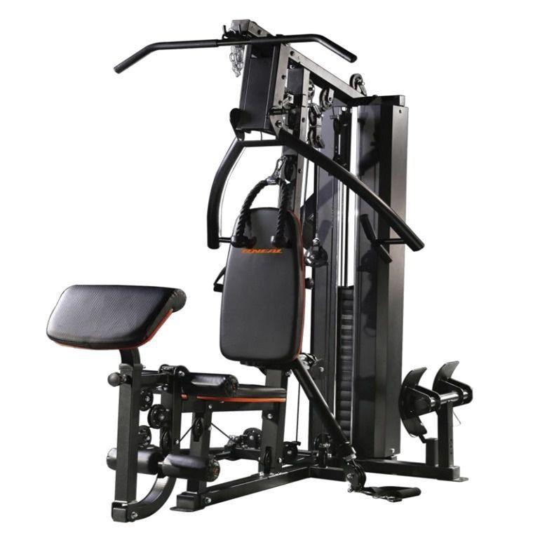 Estação de Musculação BF005 Com Leg Press Oneal Preto com Laranja