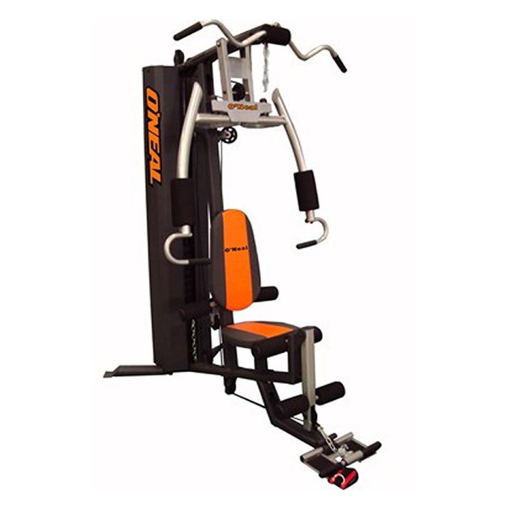 Estação de musculação Residencial Oneal BF003 Preta c/ Laranja