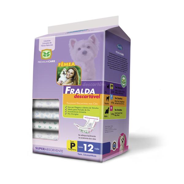 Fralda Descartável para Cães Fêmeas - 12 Unidades - Chalesco